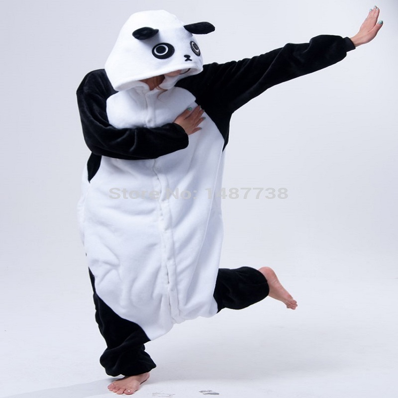 Kigurumi Panda Pajamas Animal Onesies Romper Sleepwear Jumpsuit - საკარნავალო კოსტიუმები - ფოტო 4