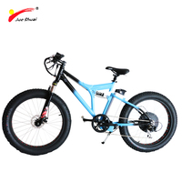 26'' fat tire beach cruiser electric bike/bicycle With One Seat For Man Frame Made In Blue Aluminum Alloy Electric Bicycle CE