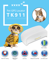 Mini TKSTAR TK911 Pet GPS tracker Wifi/GPS/GSM cat dog tracking locator waterproof charging free web server APP with Google Map