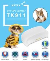 Mini TKSTAR TK911 Pet GPS tracker Wifi/GPS/GSM cat dog tracking locator waterproof charging free web server APP with Google Map