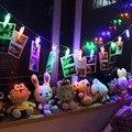 20 lâmpadas LED Pendurado Imagem Foto Clipes Pegs Cordas Da Lâmpada de Luz Brilhante No Interior, festa, festa de casamento decoração 2.2 M