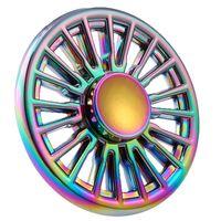 Rainbow Flower Round Hand Spinner Anti Stress Fidget Toys Fingertip Gyro Decompression Fidget Spinner Cool Gifts
