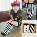 2016 Newest Cotton Girls Socks Vintage Stripe Long Baby Socks Warmer Knee Socks Kids