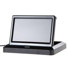 5 Pulgadas Monitor Del Coche Plegable 2 W TFT LCD Monitor de Vista Trasera Del Coche En El Tablero para Copia de Seguridad de La Cámara DVD VCR