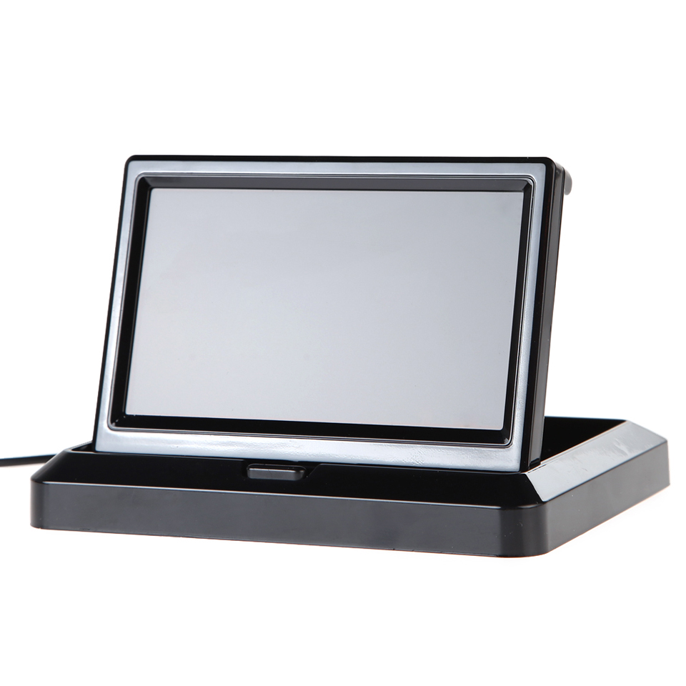 imágenes para 5 Pulgadas Monitor Del Coche Plegable 2 W TFT LCD Monitor de Vista Trasera Del Coche En El Tablero para Copia de Seguridad de La Cámara DVD VCR