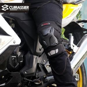 Image 5 - オートバイ膝パッドガードキュイラッシェ肘レースオフロード保護ニーパッドモトクロスブレースプロテクターバイク保護