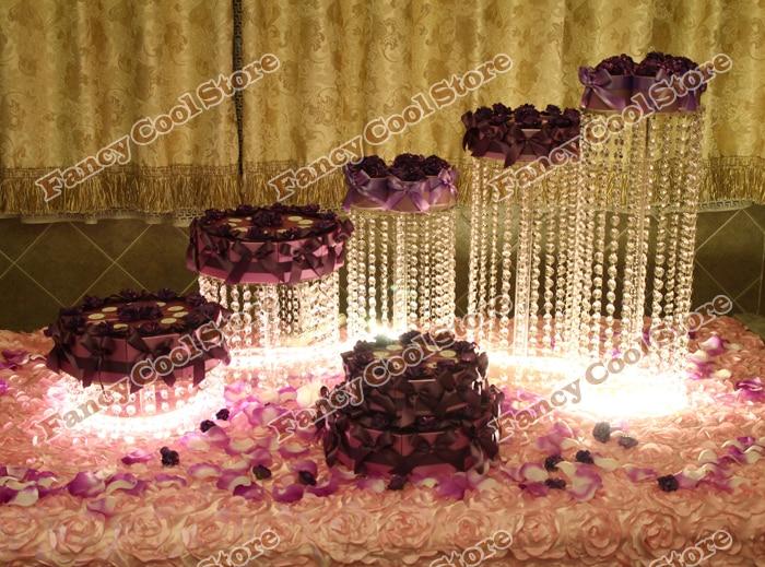5 teile / los party center kristall tortenständer / - Küche, Essen und Bar - Foto 1