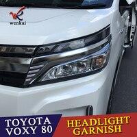 WENKAI Für Toyota VOXY MC 80 Serie Scheinwerfer Überzug Trim Augenbraue