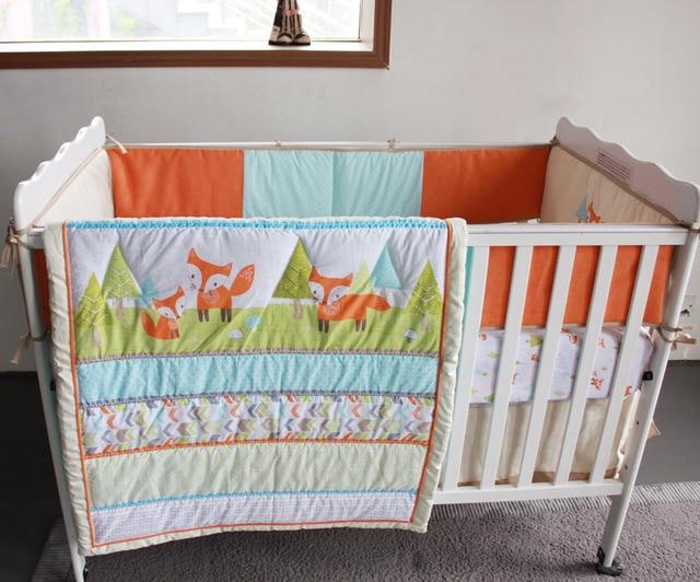 7 Stücke Prairie Fuchs Baby Bettwäsche Set Baby Wiege Krippe