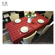 55x86 Inch Rectangular Polyester Linen Tablecloth White Grid Country Style Tablecloth  End Table Cover Kitchen Dining Table Cloth