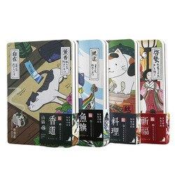 لطيف الإبداعية اليابانية القط دفتر جدول مخطط مذكرات الصلب غطاء سنوية الشهري التخطيط أوراق دفتر ملاحظات بغلاف مُجلّد المذكرات اليومية