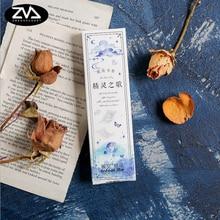 30pcs/box jellyfish paper bookmark stationery bookmarks Kawaii Cartoon Promotional Gift  school supplies papelaria