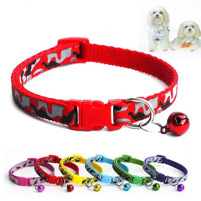 1 pz Collare Dell'animale Domestico Carino cani Cucciolo Con Campane di Polieste