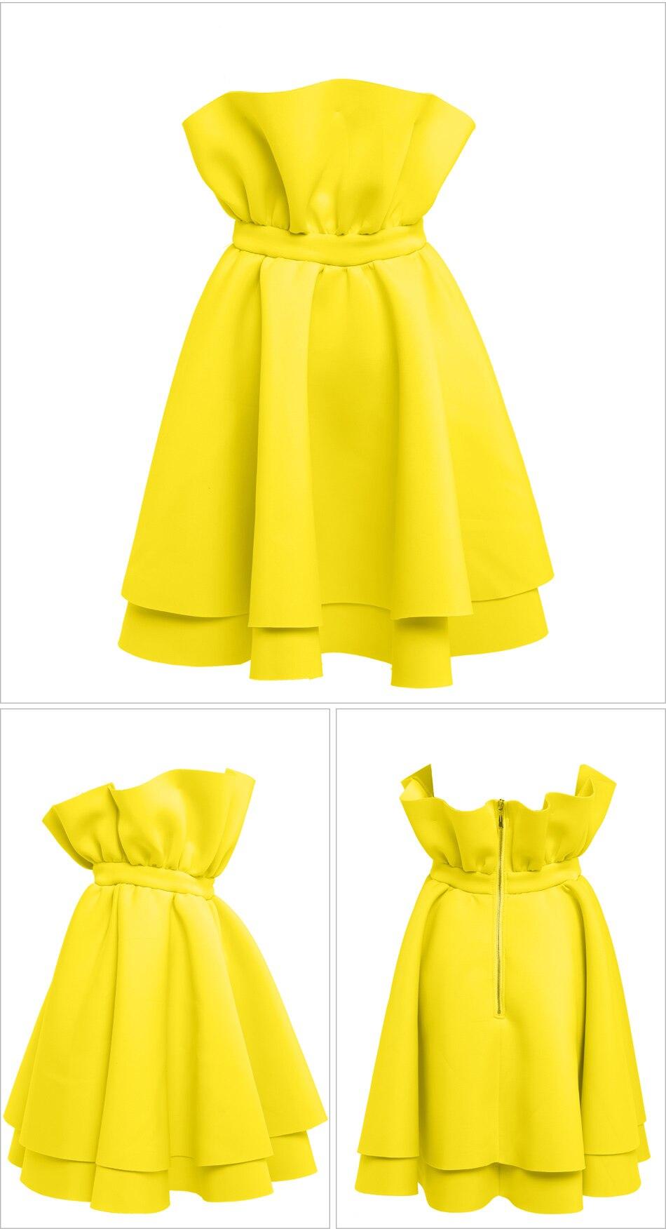 Casual Yellow Dresses Shipper
