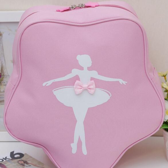 New 2015 Fashion Irregular Cute Princess Children Toddler Kids Girls Dance Bag Pink Ballet Bag