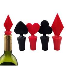Новые силиконовые Покер формы винных пробок утечек винная, пивная бутылка Корк Пробка бутылки вина герметичная пробка Барные инструменты