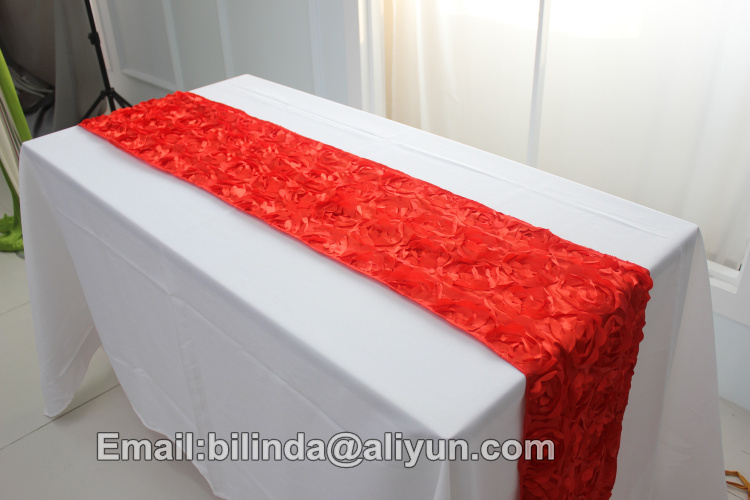 16 108inch Wedding Rosette Table Runner In Chair Cover