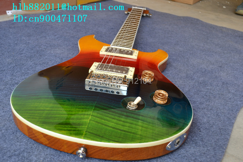 free shipping retail new electric guitar with mahogany body with stickers +foam box F-1959