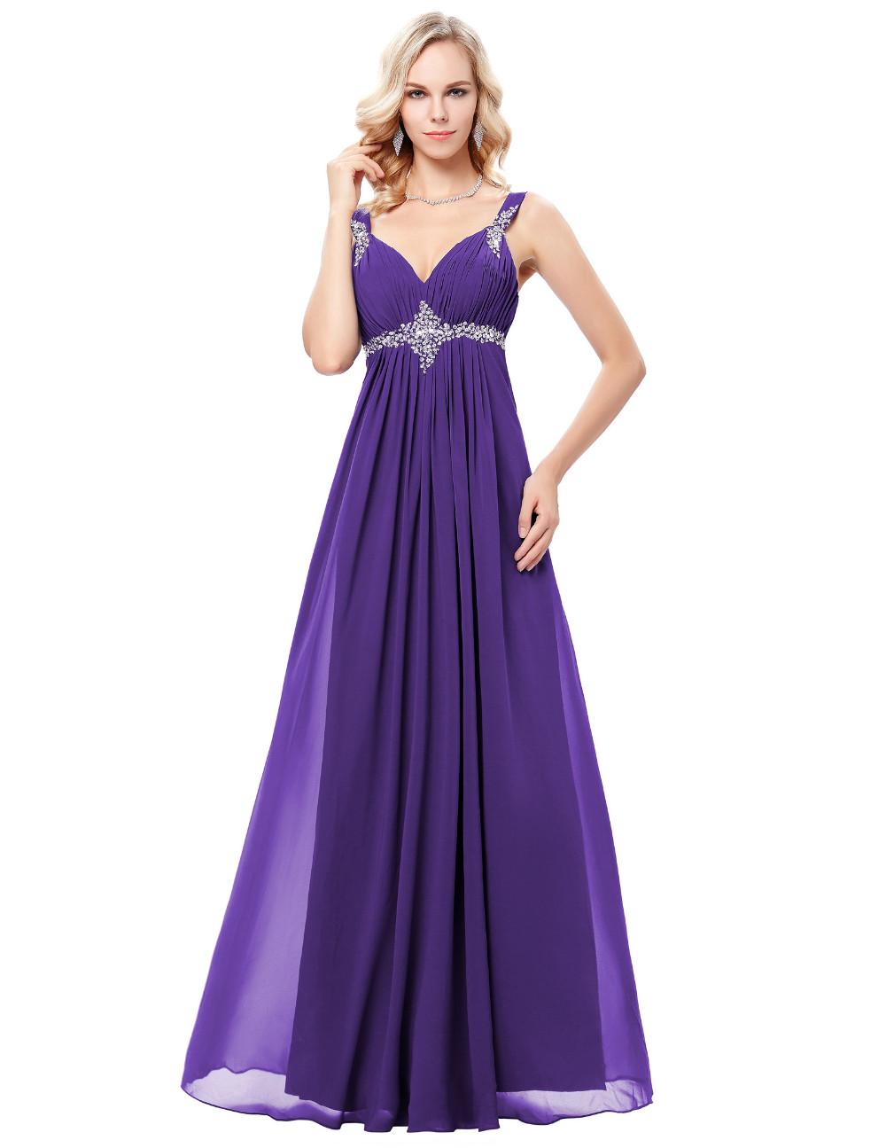HTB1mSQxOFXXXXaQXXXXq6xXFXXXsLong Formal Dress Elegant Floor Length Chiffon Dress