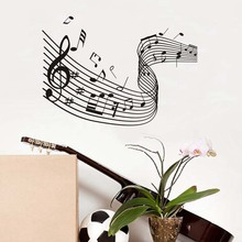 Music Art Removable Vinyl Decal Quaver Musical Wave Wall Stickers Mural Diy Art Living Room Decorative Home Decor Wallpaper