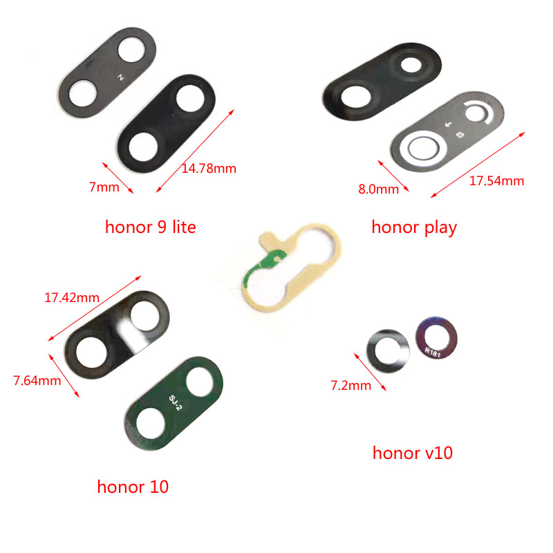 Rear Back Camera Glass Lens Cover For Huawei <font><b>honor</b></font> <font><b>9</b></font> <font><b>Lite</b></font> 10 Play v10 view10 8x 8c Replacement Repair Spare <font><b>Parts</b></font> image