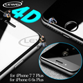 LEWEI 4D (2nd Gen 3D) Curved Edge Round Full Cover Tempered Glass COLD CARVING Screen Protector Film for iPhone 7 6 6s Plus