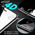 LEWEI 4D ($ number ª generación 3D) borde curvo redondo completo cubierta fría de vidrio templado film protector de pantalla para iphone 7 6 talla 6 s plus