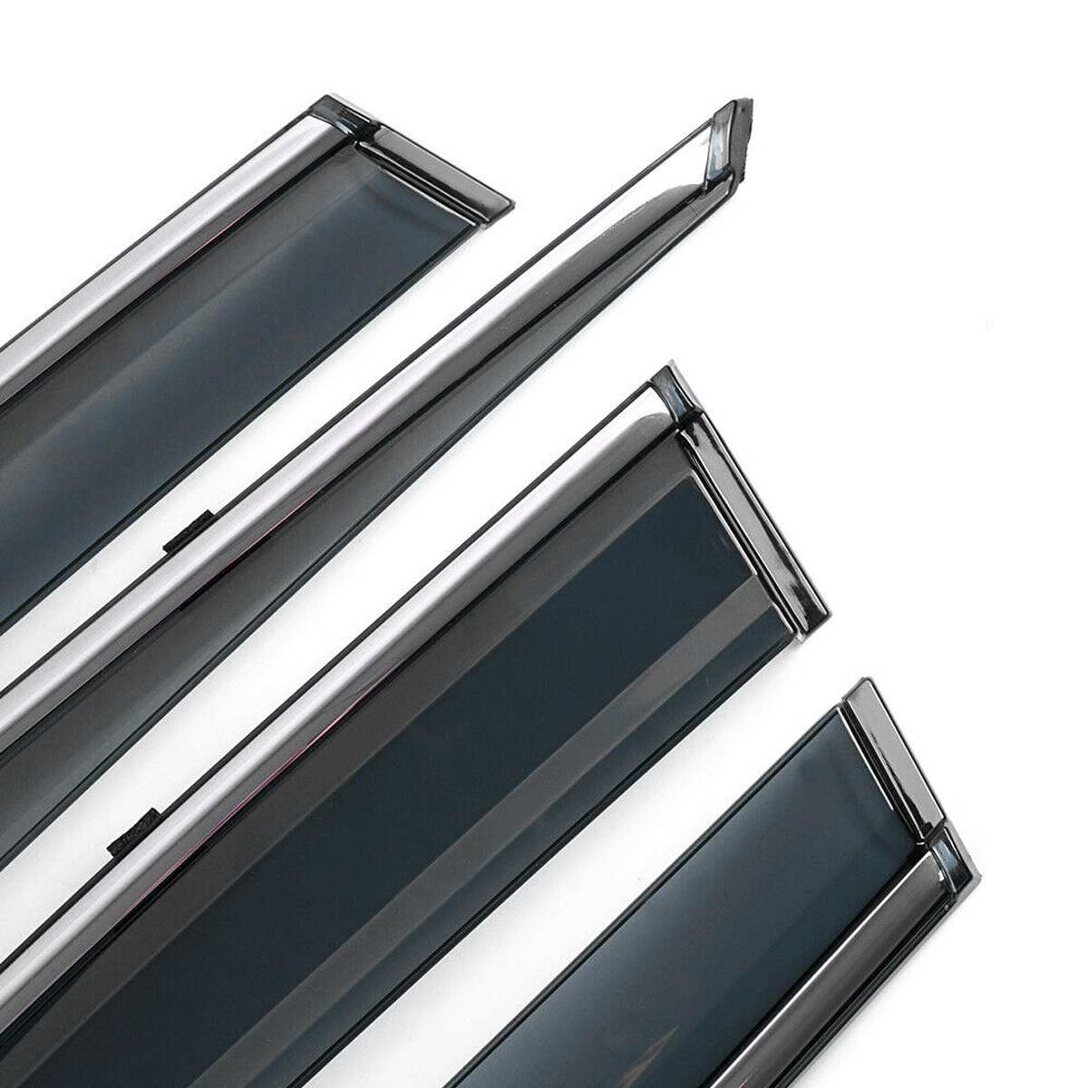 Déflecteur de pare-brise de fenêtre 4 pièces/ensemble garnitures chromées déflecteurs d'ombre de soleil d'évent pour Toyota RAV4 2019 ~ 2020 - 5