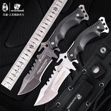 HX Outdoors Stone Wash TRIDENT 440C Stainless Steel Camping Hunting Army Survival Knife Outdoor Tools 58HRC Tactical Knives охотничий нож cr classica sebenza 21 440c 58hrc 1 01968 1pcs lot