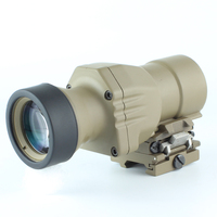 ZBL 4X32 B Range Sight 4x Magnifier QD Flip to Side 4x32 Scope Sight for Better Peripheral Vision fit 20mm rails
