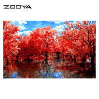 5D Square Diamond Painting Complete Drill Mosaic Embroidery Cross Stitch Landscape Complete Drill AT1116