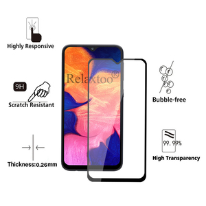 Image 2 - 2pcs tempered glass For samsung galaxy a10 protective glass on the sumsung samsun a 10 10a a105 a105F sm 105F screen protector