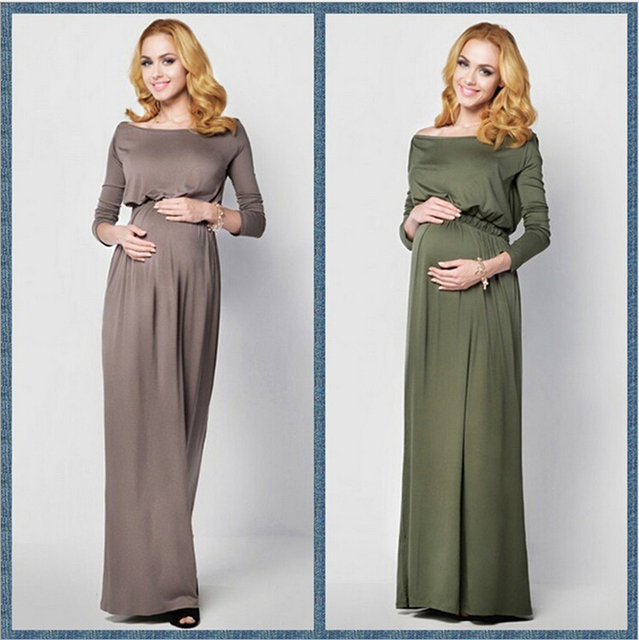 Maternity Dress shooting Photo long Maxi pregnancy Gown Maternity ...