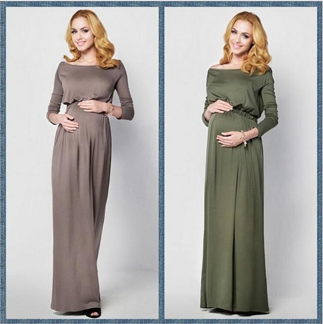 7e57226da724e Maternity Dress shooting Photo long Maxi pregnancy Gown Maternity Gown Sexy  Pregnant women Photography Props