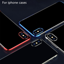 Original Perciron Case for iPhone 8 7 7Plus Cases Colorful Fashion Plating Transparent TPU Phone Cover Apple