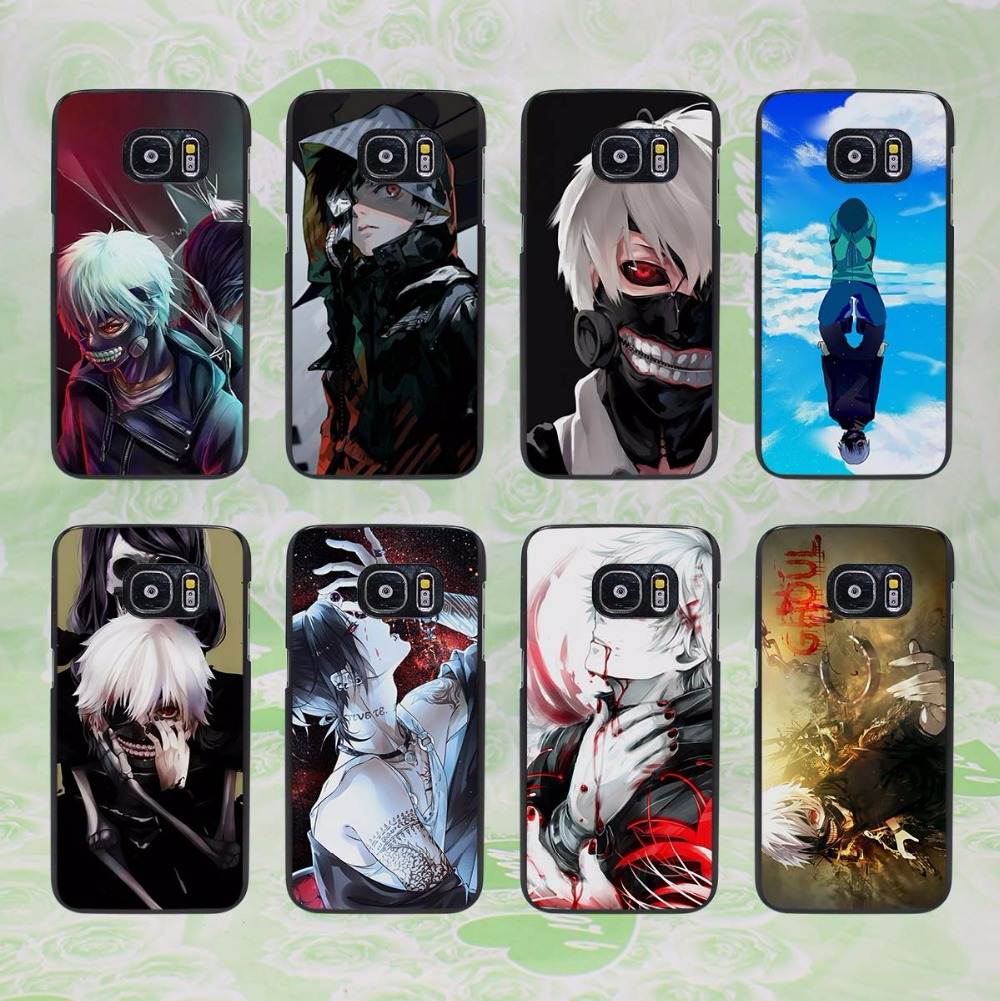 half off 4b6d2 d5a27 Anime Tokyo Ghouls design hard black phone Case Cover for samsung galaxy s8  s8 plus s7 s6 edge j3 j5 2016 j7 2016