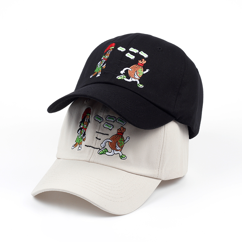 2018 new Girl and money Baseball Caps Snapback Women Cattoon Black beige cap hats Dad Hats Casquette Brand Bone caps wholesale material girl new beige black hieroglyphic printed dress msrp $44 dbfl
