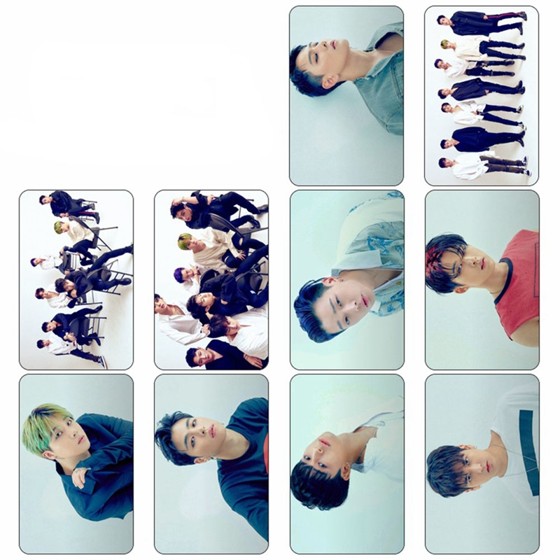 10 Pcs/Set K-POP IKON New Album Concert Comeback Photo Version For Student Card PVC Bus Crystal Card Stickers image