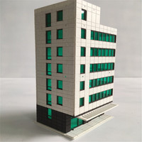 2pcs/lot architecture model n scale building for n train layout