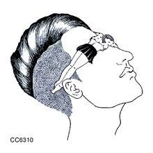 CC6310 6X6cm Little Vintage Old School Style Sexy Girl In Eye Temporary Tattoo Sticker Body Art Water Transfer Fake Taty