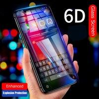 VPOWER 6D Cobertura Completa Temperado Film Vidro Para iphone Filme Protetor de Tela Anti-azul luz XS Max Para iphone filme De Vidro XS
