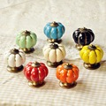 Cartoon Pumpkin Handle Cabinet Cupboard Drawer Ceramic Knob Pulls Children Room Furniture Handle Knob
