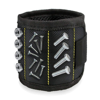 Polyester Strong Magnetic Wristband Portable Tool Bag Pouch Electrician Wrist Tool Screws Nails Drill Bits Holder Repair Tools