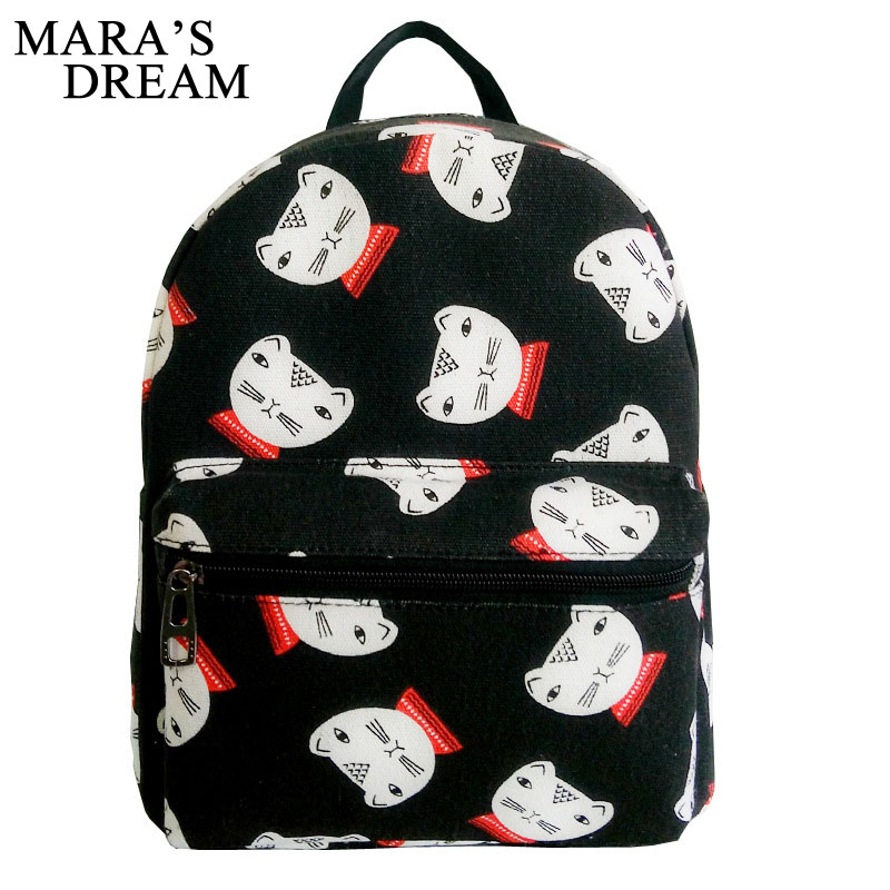 Mara's Dream Women Backpack For School Teenager Girls Flowers Printed Travel Cute Backpacks Casual Canvas School Bags Female Bag new gravity falls backpack casual backpacks teenagers school bag men women s student school bags travel shoulder bag laptop bags