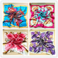 Spring and summer Women's silk scarf lady's summer sunscreen Polyester scarf girls satin scarf pashmina 90*90cm 20 colors