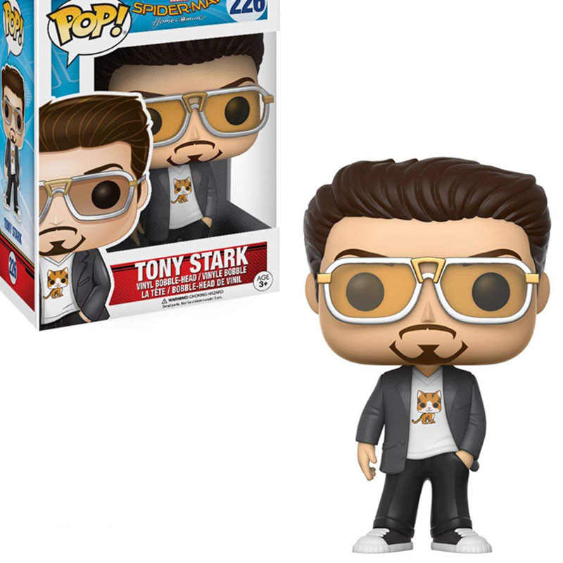 FUNKO POP TONY STARK Marvel Super-man Vinyl Doll Action Figures Collection Model Figure Gifts Toys for Children