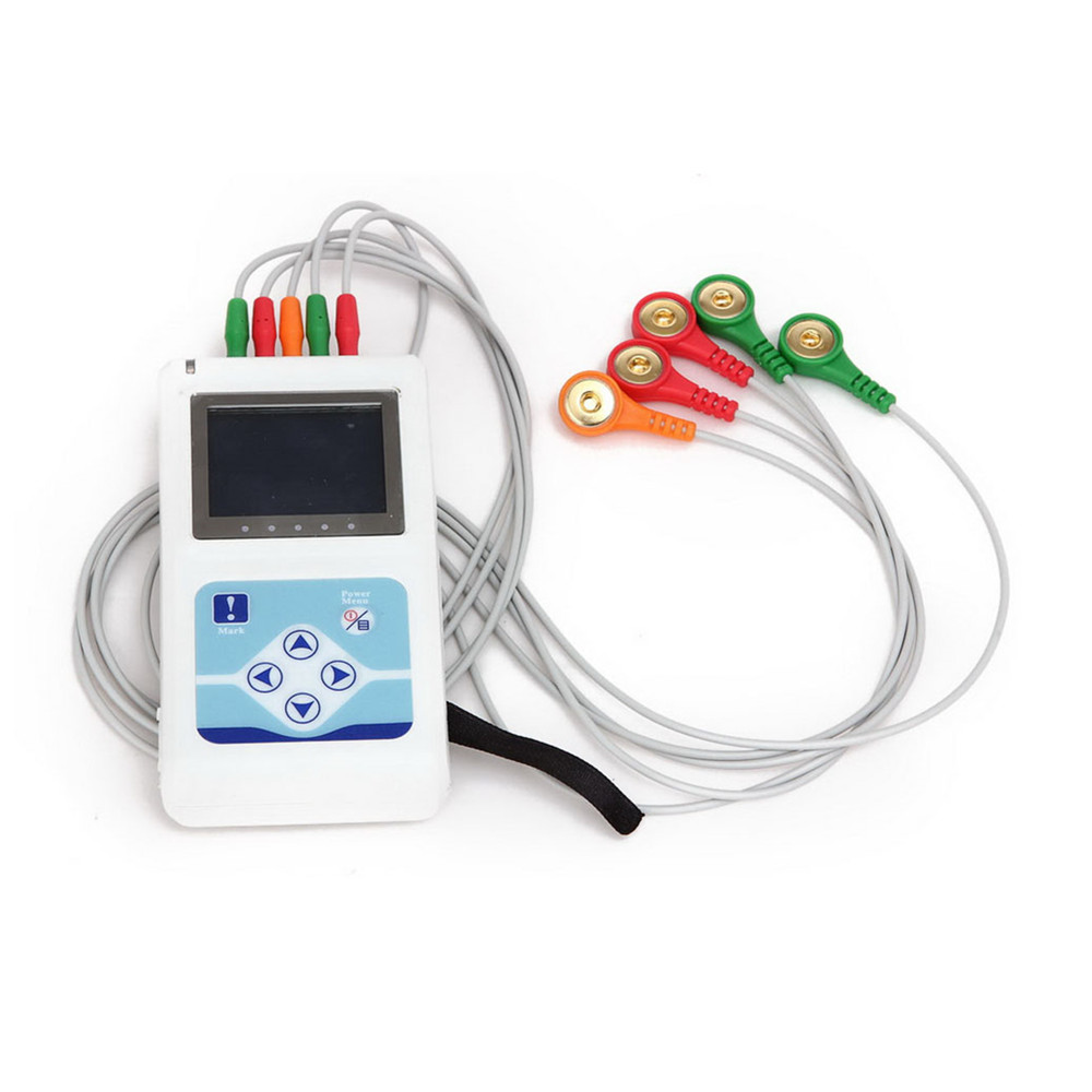 New Arrival 24 hours 3 Channel 12-lead ECG/EKG Holter Monitor System TLC9803,CONTEC MACHINE цены