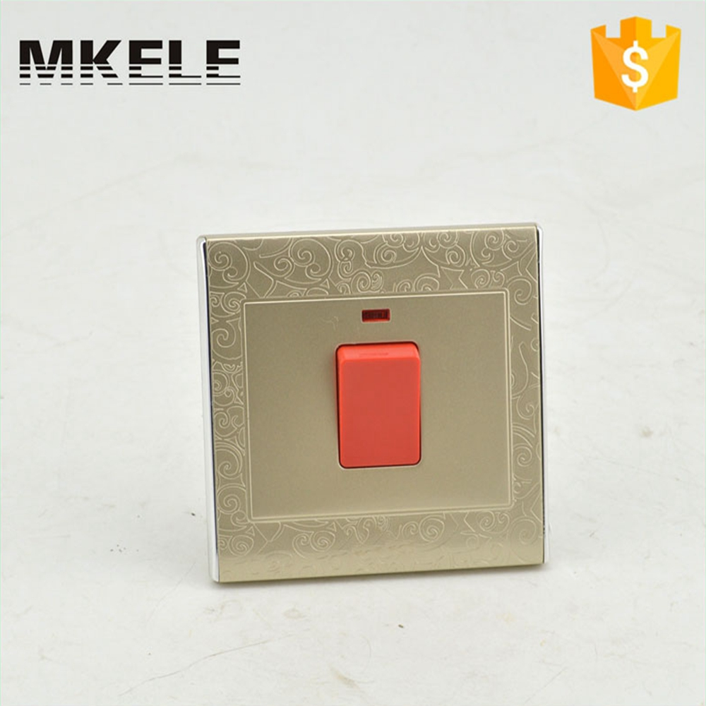 High Quality MK-WS05039 20A Wall Mounted Touch Switch European Standard Light With Led Indicator For Hotel And Office Use the ivory white european super suction wall mounted gate unique smoke door