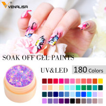 Venalisa CANNI Nail Art  Wholesale High Quality Soak Off 180 Colors Gel UV/LED 2 in 1 Gel Paint Design Color Lacquer Nail Polish