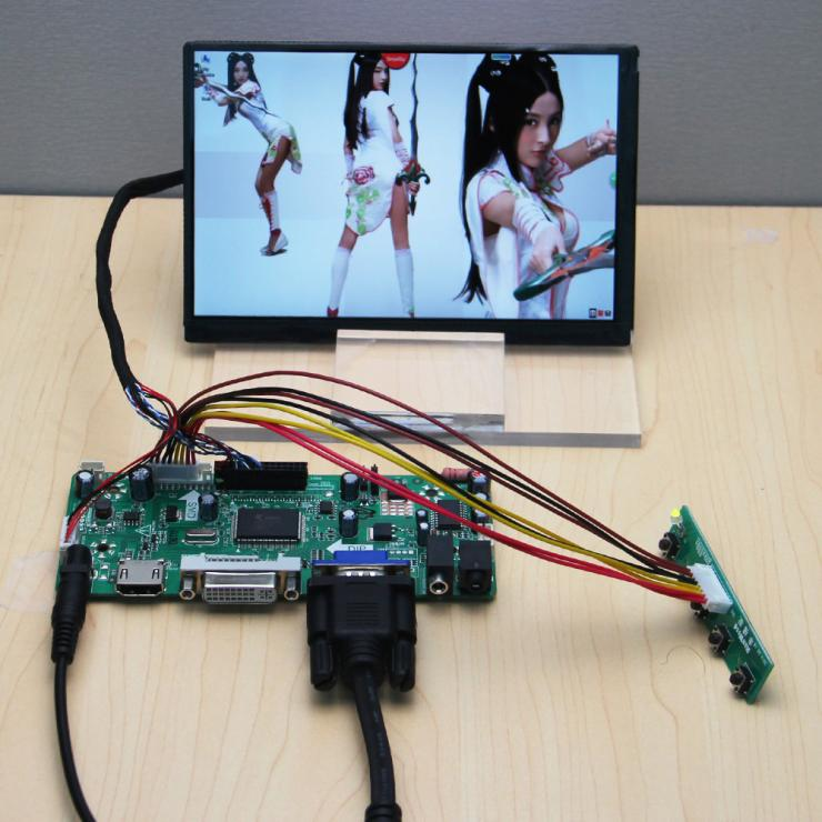 HDMI+DVI+VGA+Audio LCD/LED Controller Board+N070ICG LD1 LD3 LD4 L21 7 7Inch 1280*800 IPS LCD Display 8 4 8inch non touch industrial control lcd monitor display vga dvi interface metal shell fixed ear installation 4 3